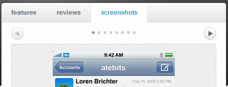 atebits module tabs screen shot.